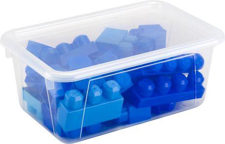 Storex Petite Boîte de Rangement avec couvercle clair, translucide (5 unités / paquet) - image 3 de 5