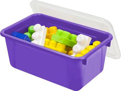 storex petite bo te de rangement avec couvercle clair violet 5 unit s paquet walmart canada. Black Bedroom Furniture Sets. Home Design Ideas