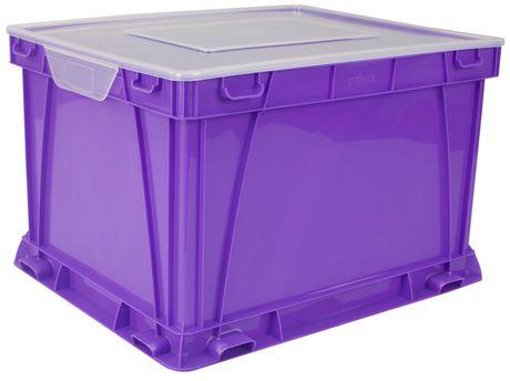 Storex Cube de stockage et de classement,/Violet (3 unités / paquet) - image 3 de 4