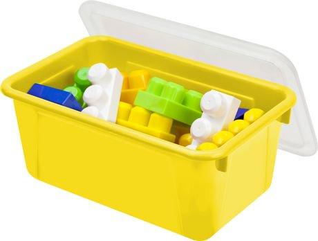 storex petite bo te de rangement couvercle jaune clair 5 unit s paquet walmart canada. Black Bedroom Furniture Sets. Home Design Ideas