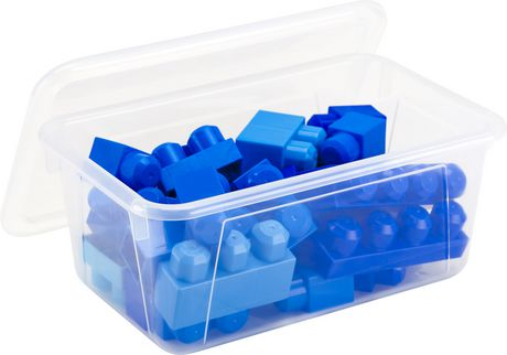 Storex Petite Boîte de Rangement avec couvercle clair, translucide (5 unités / paquet) - image 2 de 5