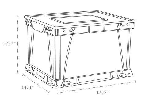 Storex Cube de stockage et de classement,/Violet (3 unités / paquet) - image 4 de 4