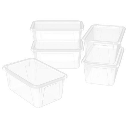 Storex Petite Boîte de Rangement avec couvercle clair, translucide (5 unités / paquet) - image 1 de 5