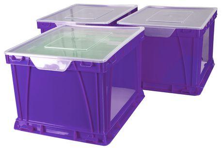 Storex Cube de stockage et de classement,/Violet (3 unités / paquet) - image 1 de 4