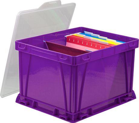 Storex Cube de stockage et de classement,/Violet (3 unités / paquet) - image 2 de 4