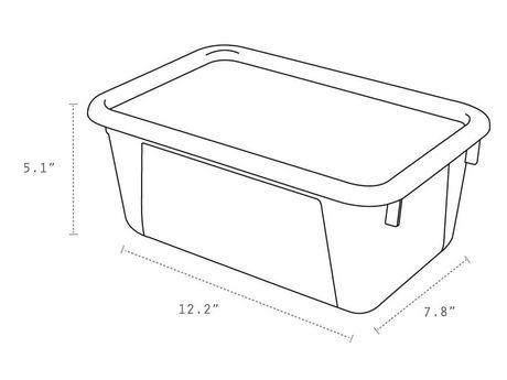 Storex Petite Boîte de Rangement avec couvercle clair, translucide (5 unités / paquet) - image 5 de 5