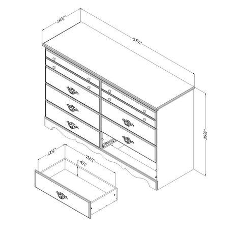 South Shore Prairie Bureau double 8 tiroirs - image 5 de 9