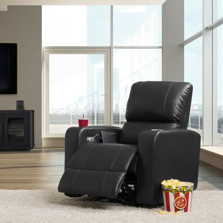 CorLiving Tucson Leather Gel Home Theather Single Power Recliner - image 6 of 9