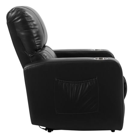 CorLiving Tucson Leather Gel Home Theather Single Power Recliner - image 4 of 9
