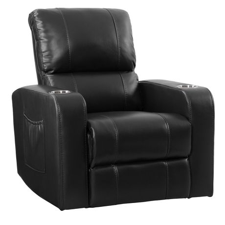 CorLiving Tucson Leather Gel Home Theather Single Power Recliner - image 2 of 9