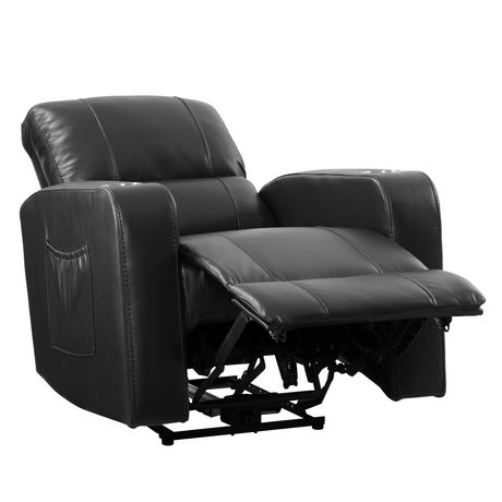 CorLiving Tucson Leather Gel Home Theather Single Power Recliner - image 3 of 9