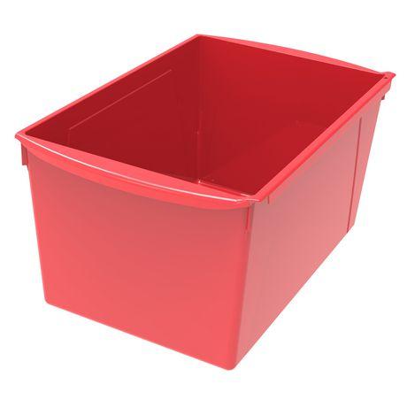 Bac à livres extra large, ensemble de 6, rouge - image 2 de 2