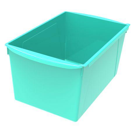 Bac à livres extra large, ensemble de 6, turquoise - image 2 de 2
