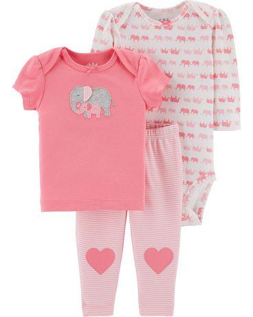dee42ca17 Child of Mine made by Carter's Newborn Girls' 3-piece Set - Elephant ...