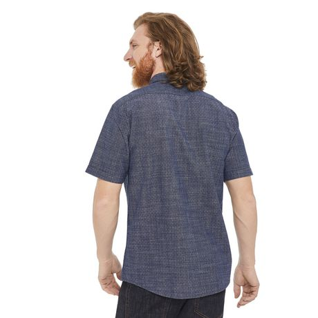 George Men's Short Sleeve Cuffed Shirt - image 3 of 6