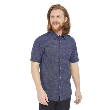 George Men's Short Sleeve Cuffed Shirt - image 1 of 6