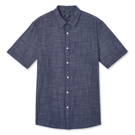 George Men's Short Sleeve Cuffed Shirt - image 6 of 6