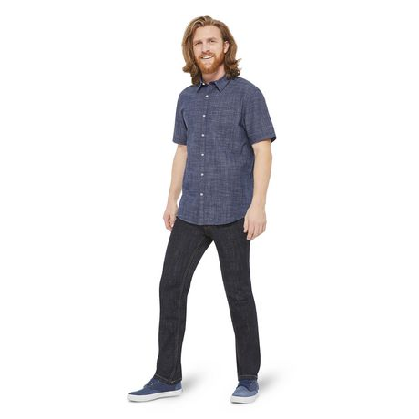 George Men's Short Sleeve Cuffed Shirt - image 5 of 6