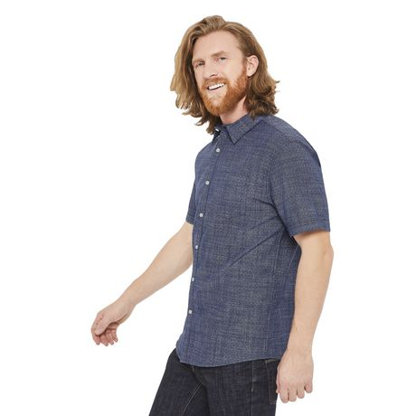 George Men's Short Sleeve Cuffed Shirt - image 2 of 6