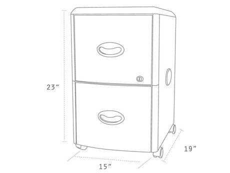 Storex Classeur mobile avec 2 tiroir +Couvercle rabattable /format Legal & Lettre - image 7 de 7