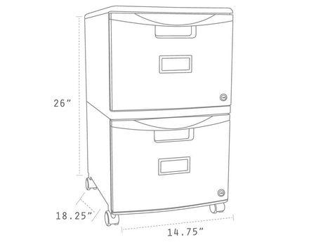 Classeur Storex mobile avec 2 tiroirs - image 7 de 9