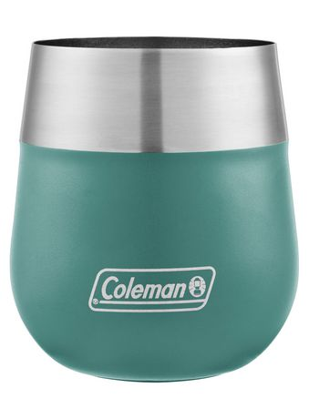 Coleman Claret Insulated Stainless Steel Wine Glass, 13oz, Seafoam