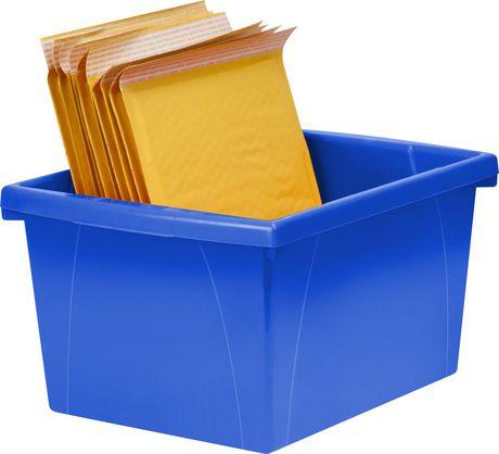 Storex 4 Gallon &15Litres Bac d'entreposage /Bleu (6 unités /paquet) - image 7 de 7