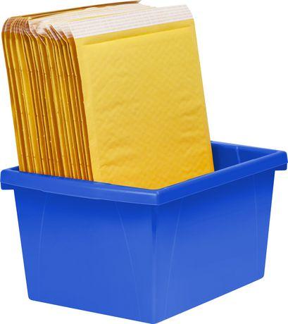 Storex 4 Gallon &15Litres Bac d'entreposage /Bleu (6 unités /paquet) - image 6 de 7