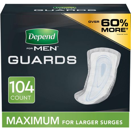Depend Incontinence Guards for MEN, Maximum Absorbency - image 1 of 5
