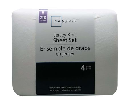 Mainstays Jersey King Size Sheet Set Walmart Canada