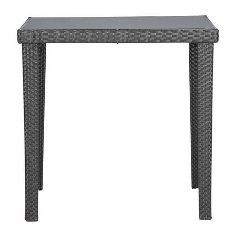 Table carr e manger d 39 ext rieur 1 pi ce en osier for Table exterieur walmart