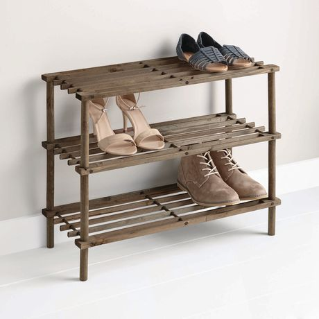 How To Make A Wooden Shoe Rack.Mainstays 3 Tier Wood Shoe Rack
