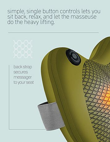 Oreiller de massage Shiatsu avec chaleur de Sharper Image - image 4 de 9