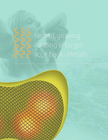 Oreiller de massage Shiatsu avec chaleur de Sharper Image - image 5 de 9