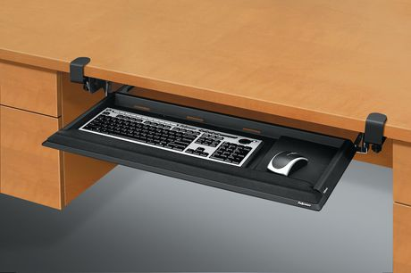 Fellowes Office Suites Underdesk Keyboard Drawer Black Silver