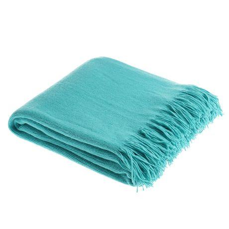 Aqua Small Cross Woven Throw Blanket | Walmart Canada