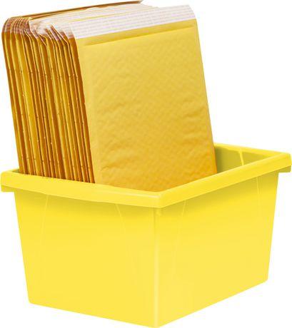 Storex 4 Gallon &15Litres Bac d'entreposage /Jaune (6 unités /paquet) - image 5 de 7