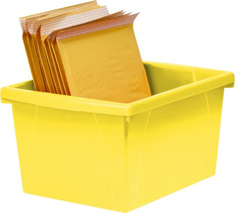 Storex 4 Gallon &15Litres Bac d'entreposage /Jaune (6 unités /paquet) - image 6 de 7