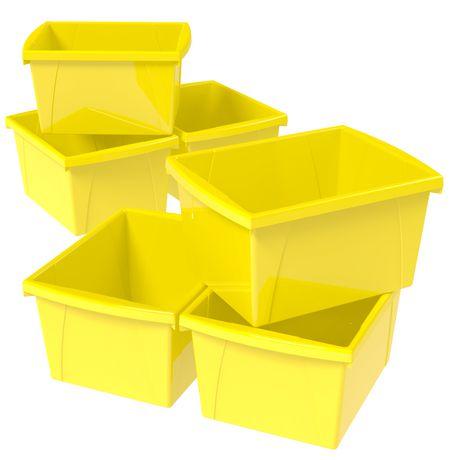 Storex 4 Gallon &15Litres Bac d'entreposage /Jaune (6 unités /paquet) - image 7 de 7