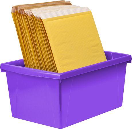 Storex 5.5 Gallon & 21Litres Bac d'entreposage /Violet (6 unités/paquet) - image 9 de 9