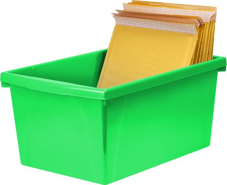 Storex 5.5 Gallon & 21Litres Bac d'entreposage /Vert (6 unités /paquet) - image 8 de 9