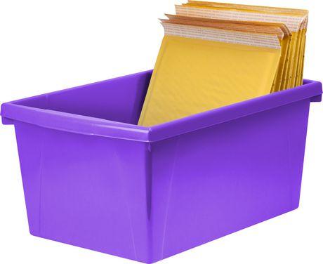 Storex 5.5 Gallon & 21Litres Bac d'entreposage /Violet (6 unités/paquet) - image 8 de 9