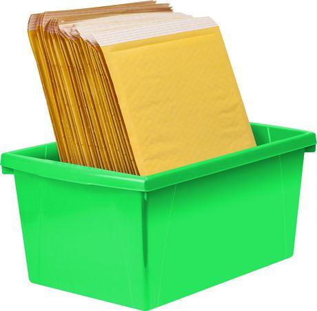 Storex 5.5 Gallon & 21Litres Bac d'entreposage /Vert (6 unités /paquet) - image 9 de 9