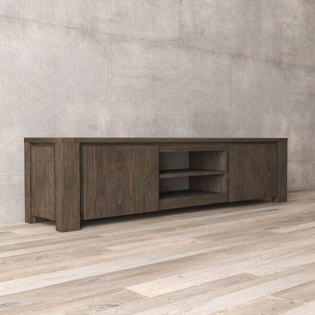 Urban Woodcraft 72'' Tuscany Espresso Pine TV Stand - image 3 of 4