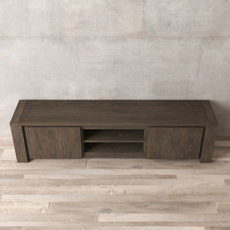 Urban Woodcraft 72'' Tuscany Espresso Pine TV Stand - image 4 of 4