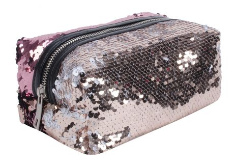AMF Reversible Sequin Accessory Pouch - image 4 of 4