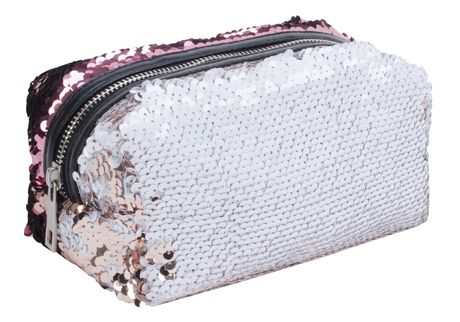 AMF Reversible Sequin Accessory Pouch - image 2 of 4