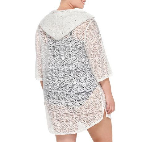 Krista Plus Hoodie Crochet Cover-up - image 2 of 2