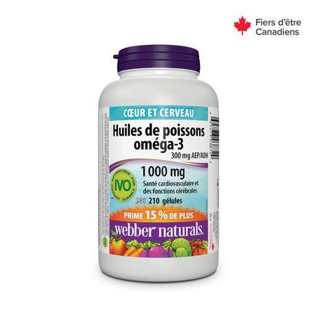 Webber Naturals® Omega-3 Fish Oils 300 mg EPA/DHA, 1000 mg Softgels - image 2 of 4