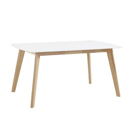 Manor Park Table à manger rétro moderne en bois - image 2 de 5